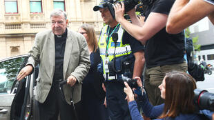 Cardinal George Pell at his trial in Melbourne, Australia, 26 February 2019.