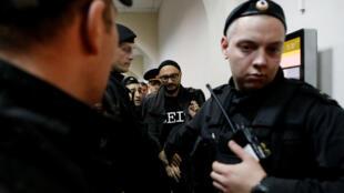 Кирилл Серебренников на заседании суда 17 октября 2017 года.