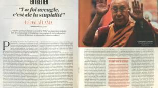 A revista L'Obs desta semana traz entrevista exclusiva com o Dalai Lama