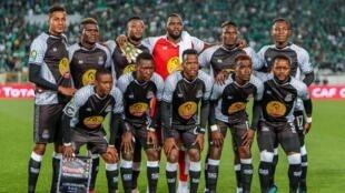Les joueurs du club congolais, Tout Puissant Mazembe.