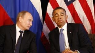 Vladimir Poutine et Barack Obama en 2012.