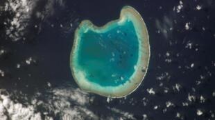 L'atoll de Bassas da India, au sud-ouest de Madagascar dans les îles Eparses.