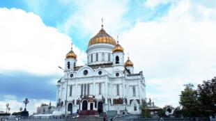 La cathédrale du Christ-Sauveur à Moscou en Russie.