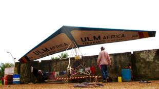 Photo de l'ULM crée par le forgeron et soudeur de profession, Yero Kante.