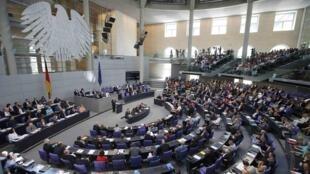 Нижняя палата немецкого парламента Бундестаг
