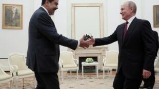 Le président vénézuelien Nicolas Maduro lors de sa rencontre avec Vladimir Poutine le 25 septembre 2019.