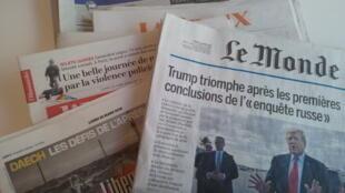 Primeiras páginas dos jornais franceses de 25 de março de 2019