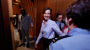 France's Audrey Azoulay, the newly-elected Director-General of the United Nations Educational, Scientific and Cultural Organization (UNESCO), enters the Executive Council room to deliver a speech at UNESCO headquarters in Paris, France, October 13, 2017.