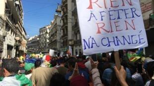 Manifestation du 21 février 2020, à Alger.