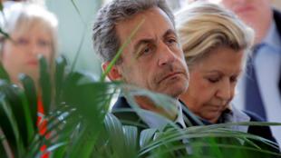 L'ancien président de la République, Nicolas Sarkozy, à Roland-Garros le 21 mars 2019.