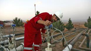Raffinerie de Tak Tak à Erbil, capitale de la région autonome du Kurdistan.