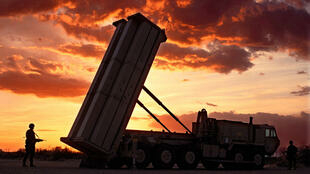 圖為疑似美國派駐韓國薩德導彈防禦系統裝置