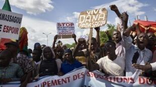 Manifestation de la communauté dogon à Bamako le 13 septembre 2019.