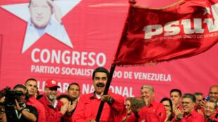 Nicolas Maduro a été désigné par son parti, le Parti socialiste unifié du Venezuela, candidat à la prochaine élection présidentielle, prévue d'ici le 30 avril prochain, Caracas, le 2 février 2018.
