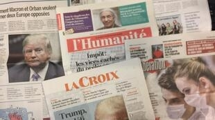 Primeiras páginas dos jornais franceses 6/09/2018