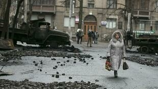 A Kiev, aux alentours du Parlement, le 23 février 2014.