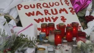 Frente a la sala Le Bataclan: '¿Por qué?'