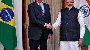 Jair Bolsonaro e Narendra Modi assinaram acordos bilaterais em várias áreas estratégicas.