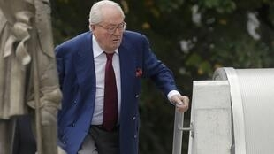 Former Front National leader Jean-Marie Le Pen after facing the party's executive committee in August