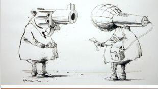 """Charge da Fundação: """"Cartooning for Peace"""" (desenhos pela paz)"""
