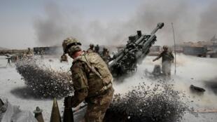 Lính Mỹ trên trận địa Seprwan Ghar, Panjwai, tỉnh Kandahar, phía nam Afghanistan, ngày 12/06/2011.