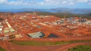 Le site de nickel Goro, en Nouvelle-Calédonie.
