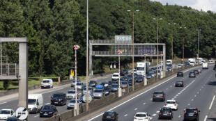 The A6 motorway near Lyon on 13 July