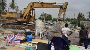 Les premières destructions autour de l'aéroport international d'Abidjan ont débuté le 23 janvier 2020.