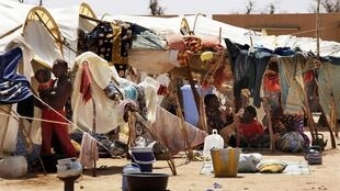 Malian refugees in a camp at Sevare, 600 km northeast of Bamako.