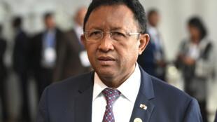 Hery Rajaonarimampianina, ici le 29 janvier 2018 à Addis-Abeba (image d'illustration).