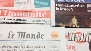 Primeiras páginas dos diários franceses de 4/03/2015