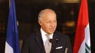 French Foreign Minister Laurent Fabius in Baghdad on August 10, 2014.