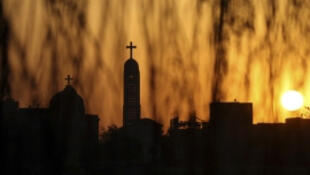 The Coptic Orthodox Virgin Mary church is seen during sunset ahead of Coptic Orthodox Easter in Cairo