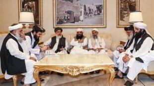 Wasu jagororin kungiyar Taliban.