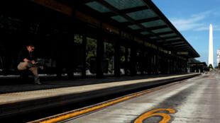 Una estación de autobuses vacía en Buenos Aires, 6 de abril de 2017.