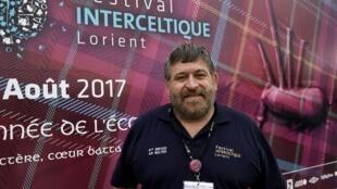 Lisardo Lombardia lors de l'édition 2017 du Festival interceltique de Lorient.