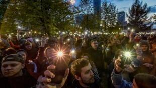 Манифестация против строительства храма в центре Екатеринбурга, 15 мая 2019