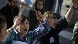 Manifestación contra la reforma de la ley sobre el aborto.