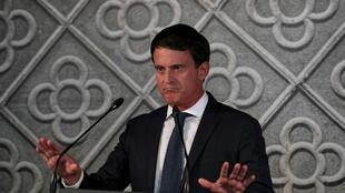 Former French prime minister Manuel Valls announcing he will run for Barcelona mayor earlier ths year