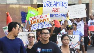 """Manifestação em defesa dos """"Dreamers"""" nos Estados Unidos"""
