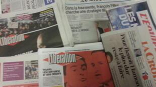 Primeiras páginas dos jornais franceses de 30 de janeiro de 2017