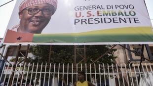 Affiche de campagne du candidat Umaro Sissoco Embalo, élu à la présidentielle en Guinée-Bissau.