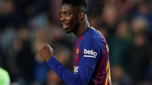 Barcelona's Ousmane Dembélé scored twice in two minutes in the first-half against Levante