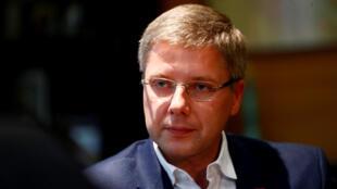Глава партии «Согласие», мэр Риги Нил Ушаков 3 октября 2018