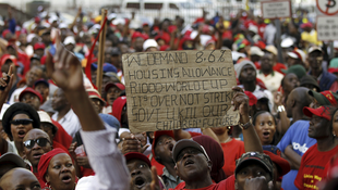 State workers on strike in Johannesburg