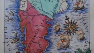 Mapa del reino de la Araucanía y la Patagonia