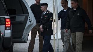 Bradley Manning saliendo del tribunal, el pasado 26 de julio.