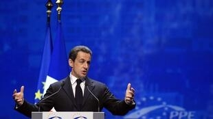 President Nicolas Sarkozy at the European People's Party (EPP) congress in Marseille