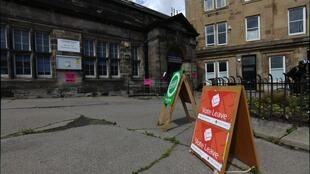 One of the 56 polling stations in Edinburgh, Scotland.