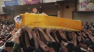 Funérailles d'un militant du Hezbollah, le 20 mai 2013, près de Baalbek (Liban).